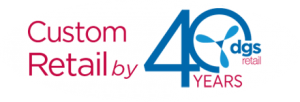 DGS Retail 40th Anniversary Logo