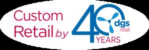 DGS Retail 40th Anniversary Logo